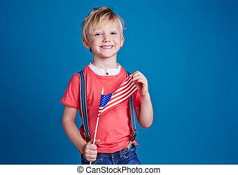 garçon, drapeau