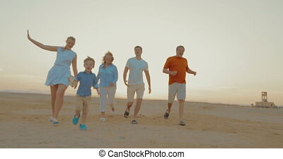 garçon, extérieur, gagnant, famille, course