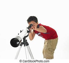 garçon, faire astronomie