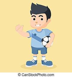 garçon, football, tenue, illustration