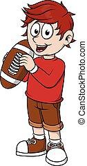 garçon, football, tenue