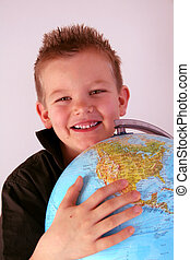 garçon, globe