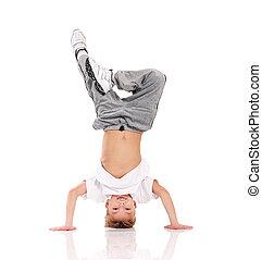 Garçon, gymnastique