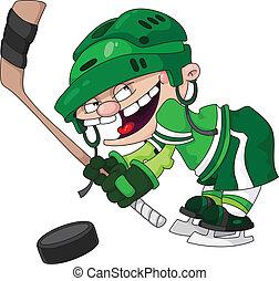 garçon, hockey