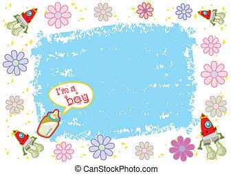 garçon, je suis, vecteur, illustration, coloré