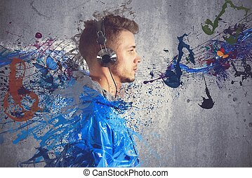 garçon, musique écouter