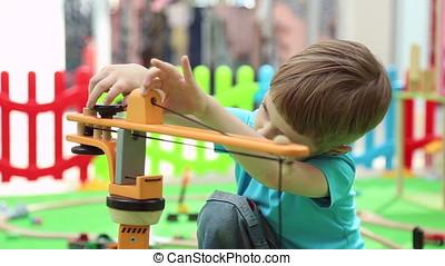 garçon, pédagogique, jeux, cour de récréation, enfants