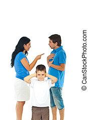garçon, pas, entendre, parents, wanna, conflit