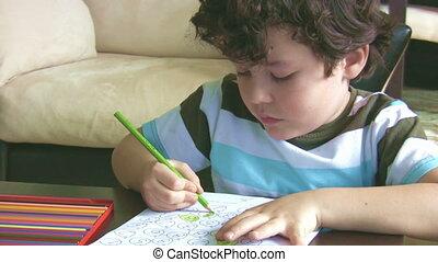 garçon, peu, devoirs