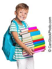 garçon, peu, livres