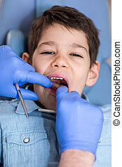 Garçon, peu, régulier, dentaire, bilan santé