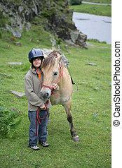 garçon, poney
