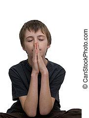 garçon, prier
