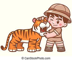 garçon, safari