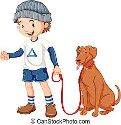 garçon, sien, chien