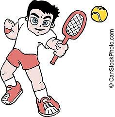 garçon, tennis