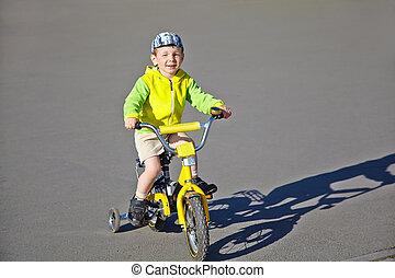 garçon, vélo