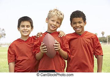 garçons, basket-ball, jeune, équipe