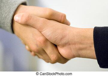 garçons, serrer main