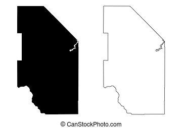 garabato, américa, mapa, unido, vector, estados, u..s.., ...