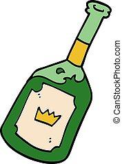 garabato, bebida, caricatura, alcohólico