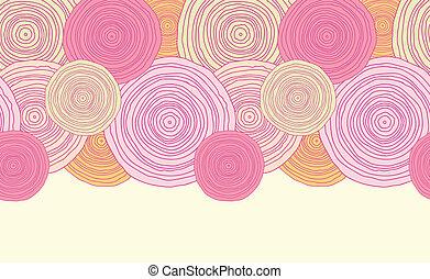 garabato, círculo, textura, horizontal, seamless, patrón,...