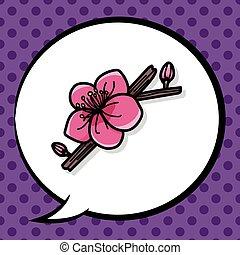 garabato, ciruela, flor