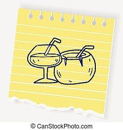 garabato, coco, bebida
