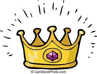 garabato, corona, caricatura