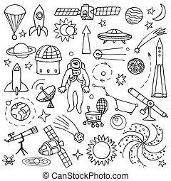 garabato, espacio, elementos