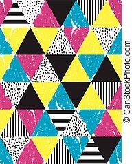 garabato, geométrico, pattern., seamless