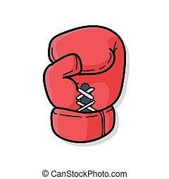 garabato, guantes de boxeo