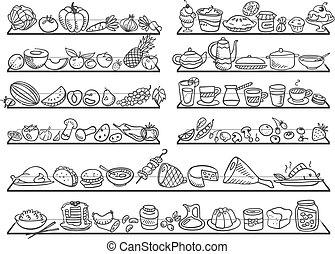 garabato, iconos del alimento