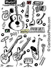 garabato, instrumentos musicales