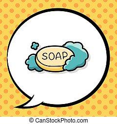 garabato, jabón