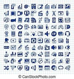 garabato, medios, iconos