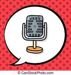 garabato, micrófono