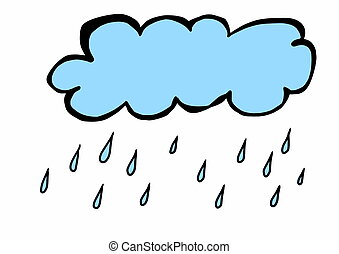 garabato, nube, lluvia
