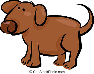 garabato, perro, caricatura