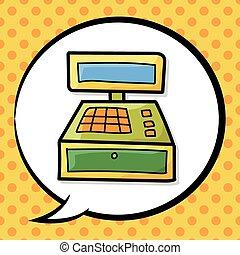 garabato, registro, efectivo