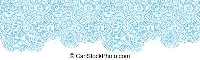 garabato, seamless, textura, agua, pauta fondo, círculo, frontera, horizontal