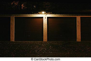 Garage at night