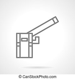 Garage barrier simple line vector icon