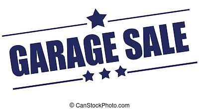 garage, briefmarke, verkauf