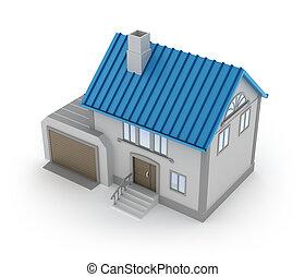 garage, concept, maison