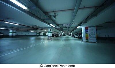 garage, conduite, stationnement