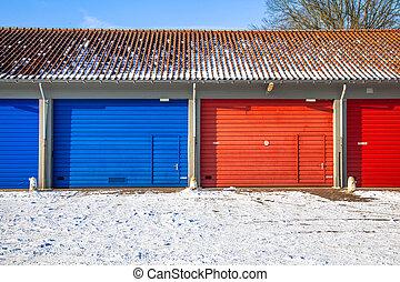 Garage Doors in Snow