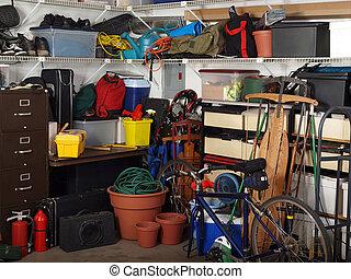 garage, füllen