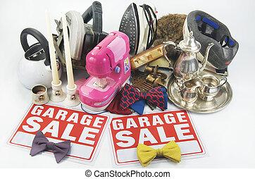 garage, füllen, verkauf