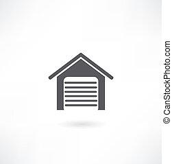 garage, icône